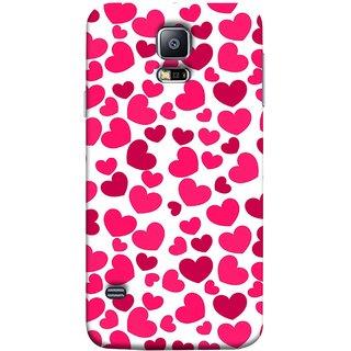 FUSON Designer Back Case Cover for Samsung Galaxy S5 Mini :: Samsung Galaxy S5 Mini Duos :: Samsung Galaxy S5 Mini Duos G80 0H/Ds :: Samsung Galaxy S5 Mini G800F G800A G800Hq G800H G800M G800R4 G800Y (Abstract Love Heart Background Lovers Valentine)