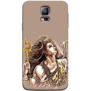 FUSON Designer Back Case Cover for Samsung Galaxy S5 Mini :: Samsung Galaxy S5 Mini Duos :: Samsung Galaxy S5 Mini Duos G80 0H/Ds :: Samsung Galaxy S5 Mini G800F G800A G800Hq G800H G800M G800R4 G800Y (Angry Lord Shiva Rudra Nag Ganga Golden )