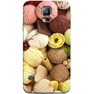 FUSON Designer Back Case Cover for Samsung Galaxy S5 Mini :: Samsung Galaxy S5 Mini Duos :: Samsung Galaxy S5 Mini Duos G80 0H/Ds :: Samsung Galaxy S5 Mini G800F G800A G800Hq G800H G800M G800R4 G800Y (Cool Desserts Flavors Banana Chocolate Chips)