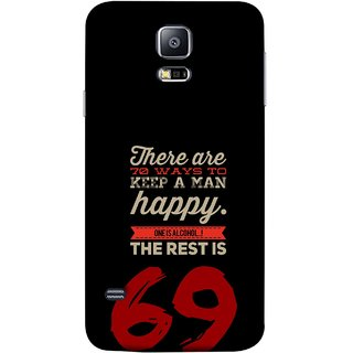 FUSON Designer Back Case Cover for Samsung Galaxy S5 :: Samsung Galaxy S5 G900I :: Samsung Galaxy S5 G900A G900F G900I G900M G900T G900W8 G900K (One Is Alcohol The Rest Is Sixty Nine Ways)
