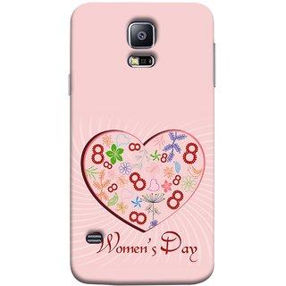 FUSON Designer Back Case Cover for Samsung Galaxy S5 Mini :: Samsung Galaxy S5 Mini Duos :: Samsung Galaxy S5 Mini Duos G80 0H/Ds :: Samsung Galaxy S5 Mini G800F G800A G800Hq G800H G800M G800R4 G800Y (Womans Diwas Mahila Diwas Prem Aaiche Mom Love)