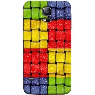 FUSON Designer Back Case Cover for Samsung Galaxy S5 :: Samsung Galaxy S5 G900I :: Samsung Galaxy S5 G900A G900F G900I G900M G900T G900W8 G900K (Bright And Beautiful Colour Strips And Band Wave )
