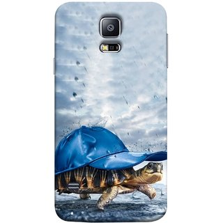 FUSON Designer Back Case Cover for Samsung Galaxy S5 Mini :: Samsung Galaxy S5 Mini Duos :: Samsung Galaxy S5 Mini Duos G80 0H/Ds :: Samsung Galaxy S5 Mini G800F G800A G800Hq G800H G800M G800R4 G800Y (Cute Tortoise Turtle Wearing A Party Hat Water Drops)