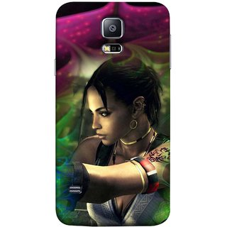 FUSON Designer Back Case Cover for Samsung Galaxy S5 Neo :: Samsung Galaxy S5 Neo G903F :: Samsung Galaxy S5 Neo G903W (Anime Ninja Girl Wallpaper Cartoon Tatoo Design )