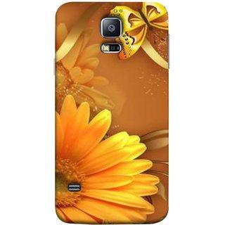 FUSON Designer Back Case Cover for Samsung Galaxy S5 Mini :: Samsung Galaxy S5 Mini Duos :: Samsung Galaxy S5 Mini Duos G80 0H/Ds :: Samsung Galaxy S5 Mini G800F G800A G800Hq G800H G800M G800R4 G800Y (Butterfly Bright Beautiful Colorful Yellow Splendo Tre