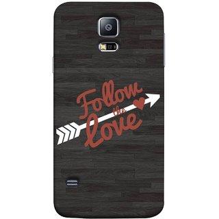 FUSON Designer Back Case Cover for Samsung Galaxy S5 Mini :: Samsung Galaxy S5 Mini Duos :: Samsung Galaxy S5 Mini Duos G80 0H/Ds :: Samsung Galaxy S5 Mini G800F G800A G800Hq G800H G800M G800R4 G800Y (Hearts Alone Arrow White Follow Worlds)