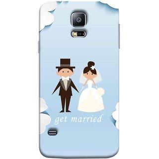 FUSON Designer Back Case Cover for Samsung Galaxy S5 Mini :: Samsung Galaxy S5 Mini Duos :: Samsung Galaxy S5 Mini Duos G80 0H/Ds :: Samsung Galaxy S5 Mini G800F G800A G800Hq G800H G800M G800R4 G800Y (Photo Wallpaper Marriage White Dressed Bride )