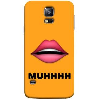 FUSON Designer Back Case Cover for Samsung Galaxy S5 Neo :: Samsung Galaxy S5 Neo G903F :: Samsung Galaxy S5 Neo G903W (Red Lips Pinky Flying Kisses Girl Lovers Couples Hot)