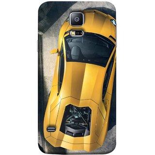 FUSON Designer Back Case Cover for Samsung Galaxy S5 Mini :: Samsung Galaxy S5 Mini Duos :: Samsung Galaxy S5 Mini Duos G80 0H/Ds :: Samsung Galaxy S5 Mini G800F G800A G800Hq G800H G800M G800R4 G800Y (Yellow 918 Spyder Top View Expensive Cars)