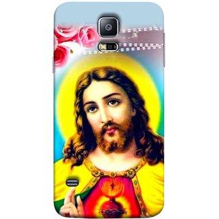 FUSON Designer Back Case Cover for Samsung Galaxy S5 Neo :: Samsung Galaxy S5 Neo G903F :: Samsung Galaxy S5 Neo G903W (Sacred Heart Of Jesus Christ Red Roses Long Hairs)