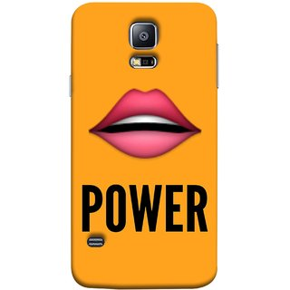 FUSON Designer Back Case Cover for Samsung Galaxy S5 Neo :: Samsung Galaxy S5 Neo G903F :: Samsung Galaxy S5 Neo G903W (Power Of Kiss Words Red Lips Pinky Flying Kisses Girl Lovers )