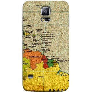 FUSON Designer Back Case Cover for Samsung Galaxy S5 Neo :: Samsung Galaxy S5 Neo G903F :: Samsung Galaxy S5 Neo G903W (Altitude And Longitude Columbus World Countries )