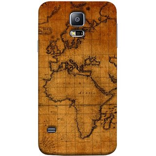 FUSON Designer Back Case Cover for Samsung Galaxy S5 Neo :: Samsung Galaxy S5 Neo G903F :: Samsung Galaxy S5 Neo G903W (World Map Altitude And Longitude Countries India )