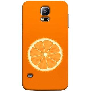 FUSON Designer Back Case Cover for Samsung Galaxy S5 Neo :: Samsung Galaxy S5 Neo G903F :: Samsung Galaxy S5 Neo G903W (Farm Fresh Fruits Lemons Fresh Juicy Orange Slice)