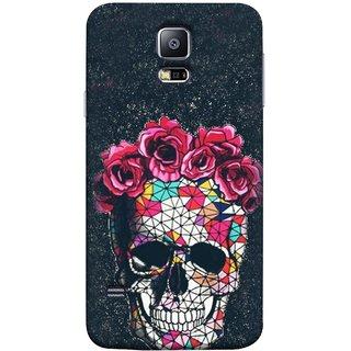 FUSON Designer Back Case Cover for Samsung Galaxy S5 Neo :: Samsung Galaxy S5 Neo G903F :: Samsung Galaxy S5 Neo G903W ( Khopdi Kavti Gulab Lal Safed White )