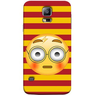 FUSON Designer Back Case Cover for Samsung Galaxy S5 Neo :: Samsung Galaxy S5 Neo G903F :: Samsung Galaxy S5 Neo G903W (Sad Moon Power Icons Red And Yellow Strips )