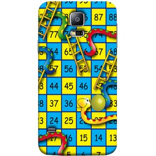 FUSON Designer Back Case Cover for Samsung Galaxy S5 Neo :: Samsung Galaxy S5 Neo G903F :: Samsung Galaxy S5 Neo G903W (Dice Pair Nice Game India Blue Children Squares Girls )