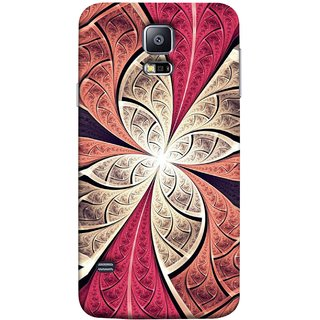 FUSON Designer Back Case Cover for Samsung Galaxy S5 Neo :: Samsung Galaxy S5 Neo G903F :: Samsung Galaxy S5 Neo G903W (Heart Shape Pink Leaves Rivers Artist Perfect Waves )
