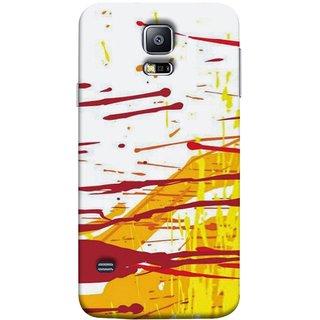 FUSON Designer Back Case Cover for Samsung Galaxy S5 Neo :: Samsung Galaxy S5 Neo G903F :: Samsung Galaxy S5 Neo G903W (Artwork Acid Bright Wallpaper Yellow Shades)