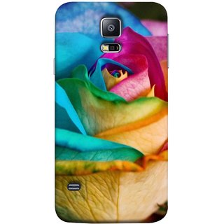 FUSON Designer Back Case Cover for Samsung Galaxy S5 Neo :: Samsung Galaxy S5 Neo G903F :: Samsung Galaxy S5 Neo G903W (Rose Colours Red Pink Yellow Blue Lovely Roses)