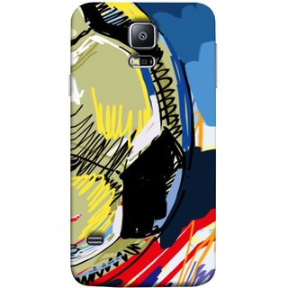 FUSON Designer Back Case Cover for Samsung Galaxy S5 Neo :: Samsung Galaxy S5 Neo G903F :: Samsung Galaxy S5 Neo G903W (Curved Straignt Acrylic Texture Lines Oil Paint Bright)