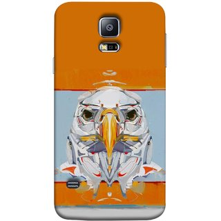 FUSON Designer Back Case Cover for Samsung Galaxy S5 Neo :: Samsung Galaxy S5 Neo G903F :: Samsung Galaxy S5 Neo G903W (Stearing Eyes Deadly Look Canvas Vision Bird Sky High)