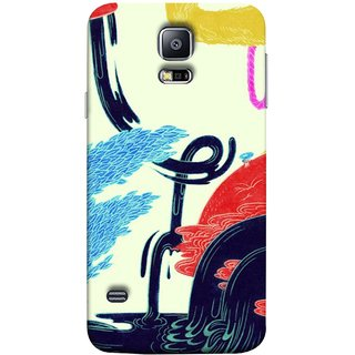 FUSON Designer Back Case Cover for Samsung Galaxy S5 Neo :: Samsung Galaxy S5 Neo G903F :: Samsung Galaxy S5 Neo G903W (Multicolour Waterfall Oilpaint Blue Rajhans Locket)