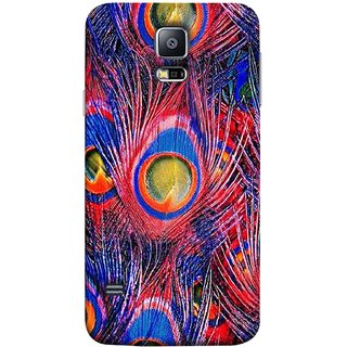 FUSON Designer Back Case Cover for Samsung Galaxy S5 Neo :: Samsung Galaxy S5 Neo G903F :: Samsung Galaxy S5 Neo G903W (Nice Colourful Long Peacock Feathers Beak)