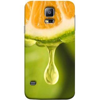 FUSON Designer Back Case Cover for Samsung Galaxy S5 Neo :: Samsung Galaxy S5 Neo G903F :: Samsung Galaxy S5 Neo G903W (Orange Juice Dripping Slice Citrus Fruit Flesh)