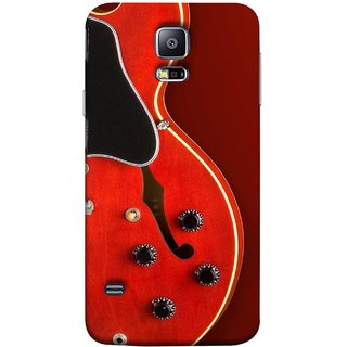 FUSON Designer Back Case Cover for Samsung Galaxy S5 Neo :: Samsung Galaxy S5 Neo G903F :: Samsung Galaxy S5 Neo G903W (Close Up Of Electric Guitar Leaning On Amplifier )