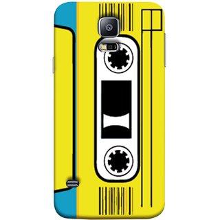 FUSON Designer Back Case Cover for Samsung Galaxy S5 Neo :: Samsung Galaxy S5 Neo G903F :: Samsung Galaxy S5 Neo G903W (Tape Cassette Black Film Screws Old Player)