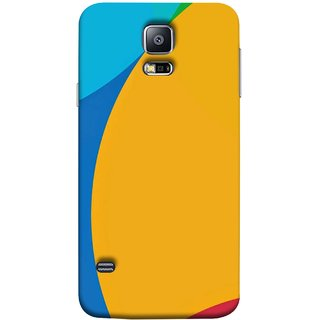 FUSON Designer Back Case Cover for Samsung Galaxy S5 Neo :: Samsung Galaxy S5 Neo G903F :: Samsung Galaxy S5 Neo G903W ( Large Medium Circles Orange Yellow Red Blue Grey)