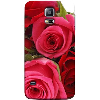 FUSON Designer Back Case Cover for Samsung Galaxy S5 Neo :: Samsung Galaxy S5 Neo G903F :: Samsung Galaxy S5 Neo G903W (Close Up Red Roses Chocolate Hearts For Valentines Day)