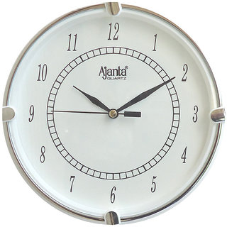 Ajanta Full White Wall Clock 411w
