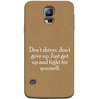 FUSON Designer Back Case Cover for Samsung Galaxy S5 Neo :: Samsung Galaxy S5 Neo G903F :: Samsung Galaxy S5 Neo G903W (Yourself Motivational Inspirational Saying Quotes)