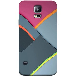 FUSON Designer Back Case Cover for Samsung Galaxy S5 Neo :: Samsung Galaxy S5 Neo G903F :: Samsung Galaxy S5 Neo G903W (Bright Beautiful Colour Strips And Band Wave Triangle)