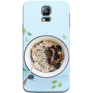 FUSON Designer Back Case Cover for Samsung Galaxy S5 Neo :: Samsung Galaxy S5 Neo G903F :: Samsung Galaxy S5 Neo G903W (Bowl Of Breakfast Cereal With Milk And Spoon)