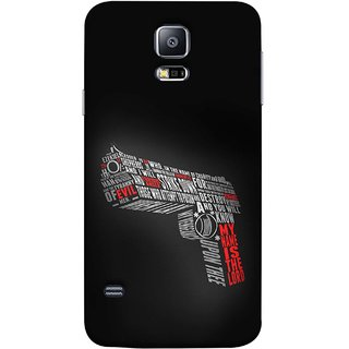 FUSON Designer Back Case Cover for Samsung Galaxy S5 Neo :: Samsung Galaxy S5 Neo G903F :: Samsung Galaxy S5 Neo G903W (My Name Is The God Upon Thee Evil New Strike Down)
