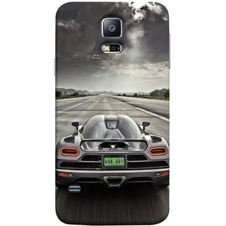 FUSON Designer Back Case Cover for Samsung Galaxy S5 Neo :: Samsung Galaxy S5 Neo G903F :: Samsung Galaxy S5 Neo G903W (Trees Silver Sports Car Led American Muscle Cars)