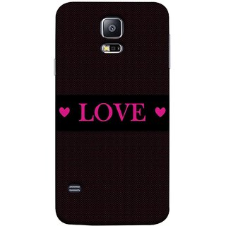 FUSON Designer Back Case Cover for Samsung Galaxy S5 Neo :: Samsung Galaxy S5 Neo G903F :: Samsung Galaxy S5 Neo G903W (Best Gift For Valentine Friends Lovers Couples Baby Pink Red )