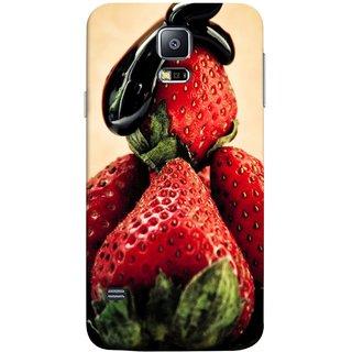 FUSON Designer Back Case Cover for Samsung Galaxy S5 Neo :: Samsung Galaxy S5 Neo G903F :: Samsung Galaxy S5 Neo G903W (Best Fresh Strawberry Sweet Dish Homemade Recipes)