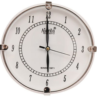 Ajanta White Wall Clock 411w