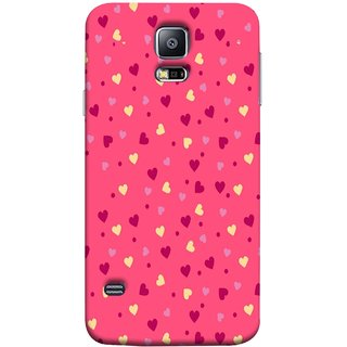 FUSON Designer Back Case Cover for Samsung Galaxy S5 Neo :: Samsung Galaxy S5 Neo G903F :: Samsung Galaxy S5 Neo G903W (Valentine Pink Metallic Cool Peace Sign Symbol Pillow)