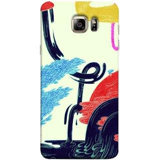 FUSON Designer Back Case Cover for Samsung Galaxy S6 G920I :: Samsung Galaxy S6 G9200 G9208 G9208/Ss G9209 G920A G920F G920Fd G920S G920T (Multicolour Waterfall Oilpaint Blue Rajhans Locket)