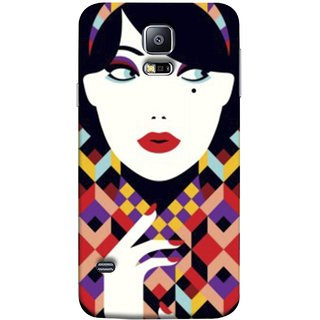 FUSON Designer Back Case Cover for Samsung Galaxy S5 Neo :: Samsung Galaxy S5 Neo G903F :: Samsung Galaxy S5 Neo G903W (Beautiful Portrait Of A Young Enchanting Woman Face)