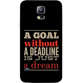 FUSON Designer Back Case Cover for Samsung Galaxy S5 Neo :: Samsung Galaxy S5 Neo G903F :: Samsung Galaxy S5 Neo G903W (Big Goals Achievments Finishing Lines Is Not Possible )