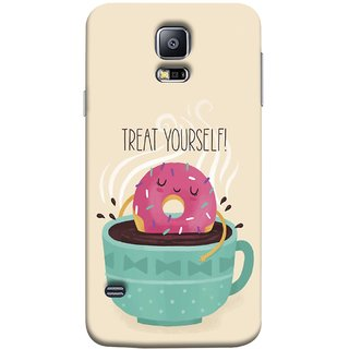 FUSON Designer Back Case Cover for Samsung Galaxy S5 Neo :: Samsung Galaxy S5 Neo G903F :: Samsung Galaxy S5 Neo G903W (Donut Strawberry Flavor Sinking In Hot Chocolate)
