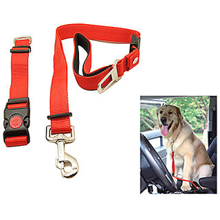 Gadget Hero's Adjustable Seatbelt Safety Lock, Dog Collar  Leash