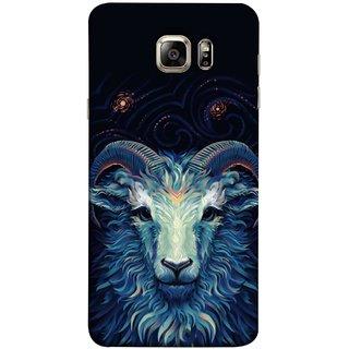 FUSON Designer Back Case Cover for Samsung Galaxy S6 G920I :: Samsung Galaxy S6 G9200 G9208 G9208/Ss G9209 G920A G920F G920Fd G920S G920T (Bail Goat Horn Strong Bakara Style Design)