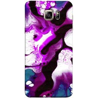 FUSON Designer Back Case Cover for Samsung Galaxy S6 G920I :: Samsung Galaxy S6 G9200 G9208 G9208/Ss G9209 G920A G920F G920Fd G920S G920T (Purple Painting Wallpaper White Iceberg River Flow)